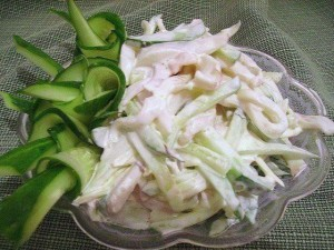 Нежнейший салат из кальмаров «Русалочка»