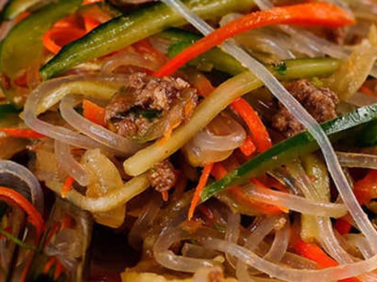 Салат фунчоза рецепт с мясом
