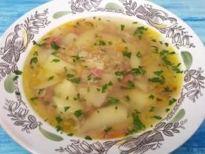 Куриный суп с овсянкой