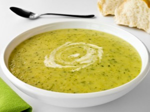 Сырный суп-пюре с кабачком
