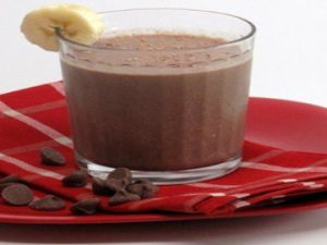 Горячий шоколад с бананом