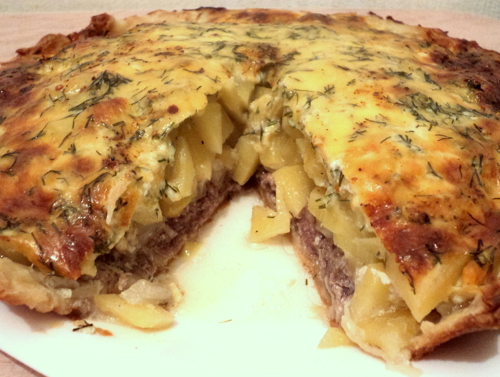 Пироги с картошкой и мясом в духовке рецепт