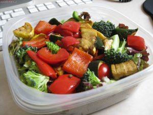 Запечённые овощи под нежным соусом
