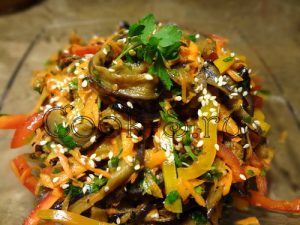 Салат «Баклажаны по-корейски»