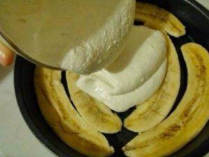 Банановая запеканка с йогуртом!