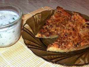Мясной пирог с перцем