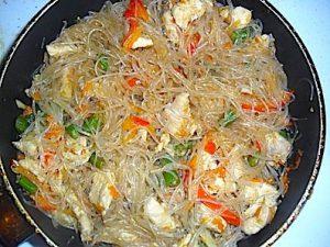 Овощной суп с фрунчозой и морепродуктами