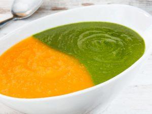 Крем-суп из тыквы и шпината