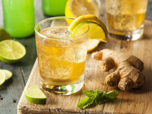 Домашний имбирный лимонад