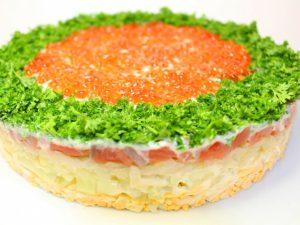 Новогодний салат «Императрица»