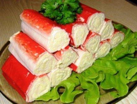 Крабовые палочки фаршированные сыром