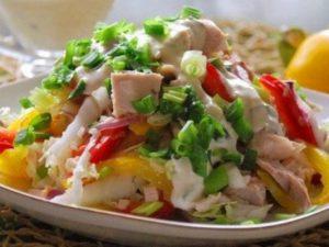 Диетический салат «Курочка-Снегурочка»