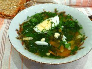 Суп из горбуши и щавеля