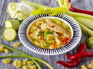 Ароматный картофельный суп со свининой