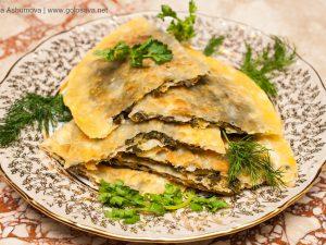 Азербайджанский рецепт кутабов с зеленью и сыром