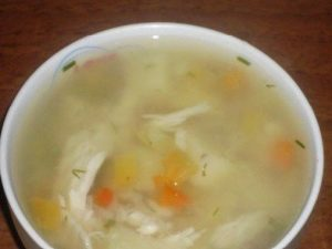 Суп из карпа и курицы