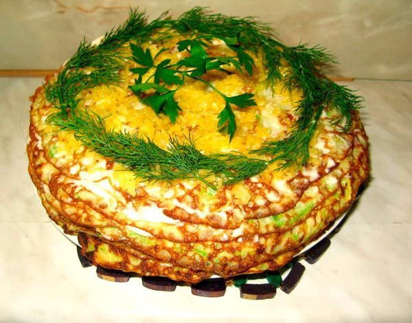 Торт из кабачков рецепт пошагово с фото