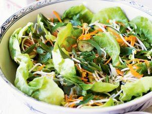 Каскадный овощной салат