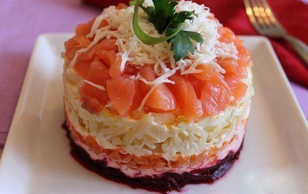 Салат «овощи в снегу»