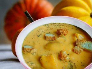 Суп пюре из гороха и тыквы