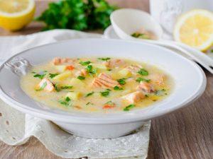 Суп бюджетный сливочный с рыбьей головой