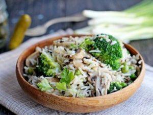 Постный салат с маринованными грибами