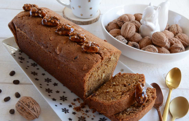 Орехово-кофейный кекс