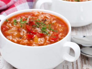 Рисовый томатный суп