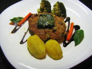 Рыбные котлеты с овощами