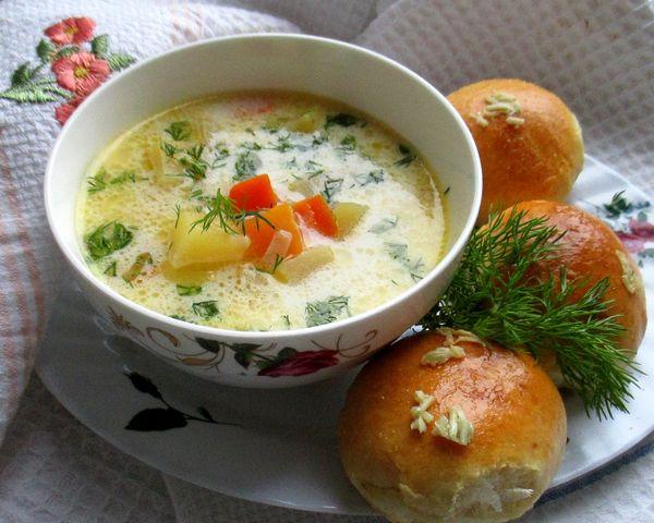 Рыбный суп с пампушками