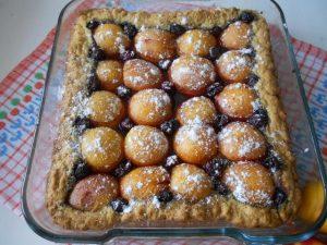 Абрикосово-вишневый пирог