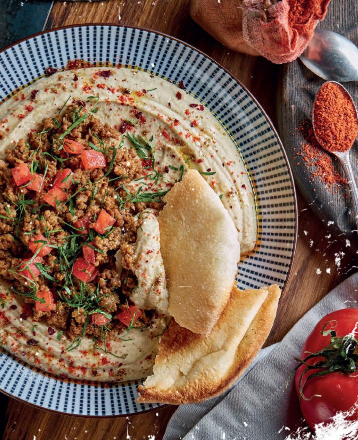 Хумус с телятиной