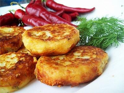 Котлеты картофельные с сыром