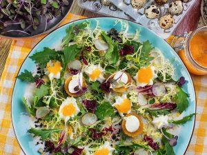 Салат с икрой омуля