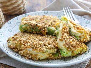 Капустные шницели с сыром и зеленью