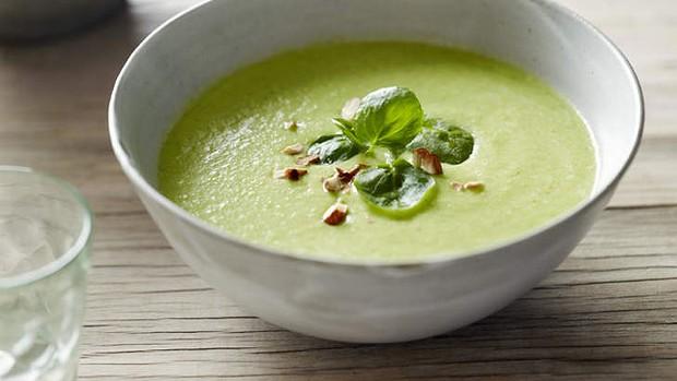 Суп из кабачков с брынзой