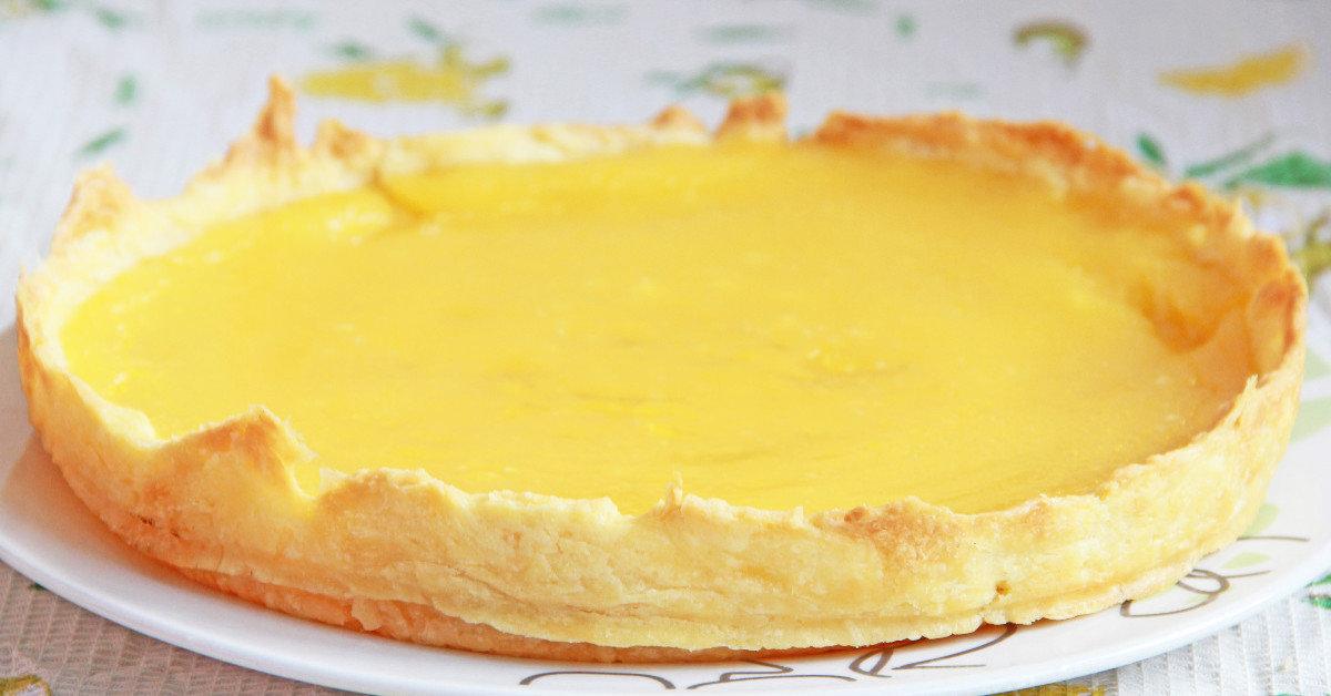 Лимонно — абрикосовый тарт