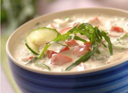 Холодный суп с рукколой