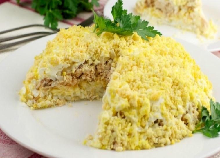 Сливочный салат «Мимоза»