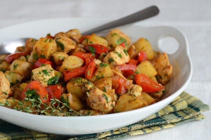Филей индейки с картофелем
