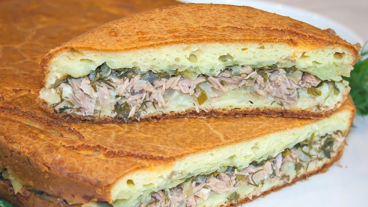 Пирог с консервированным тунцом
