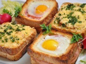 Необычные бутерброды в духовке к завтраку