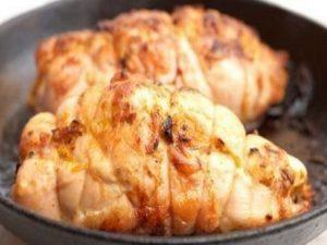 Роллы из курицы с плавленым сыром и брокколи