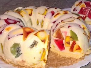 Торт из желе «Битое стекло»