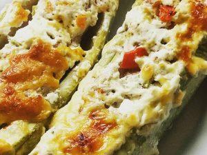 Рецепт фаршированных кабачков с овощами