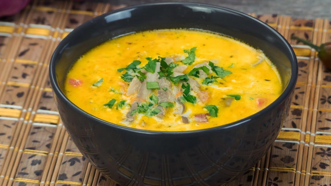 Грибной суп с льезоном