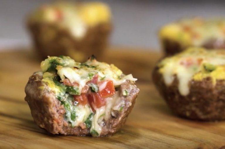 Мясные корзиночки с сырной начинкой