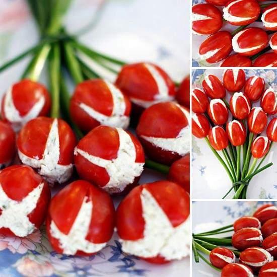 Салат «Букет тюльпанов»