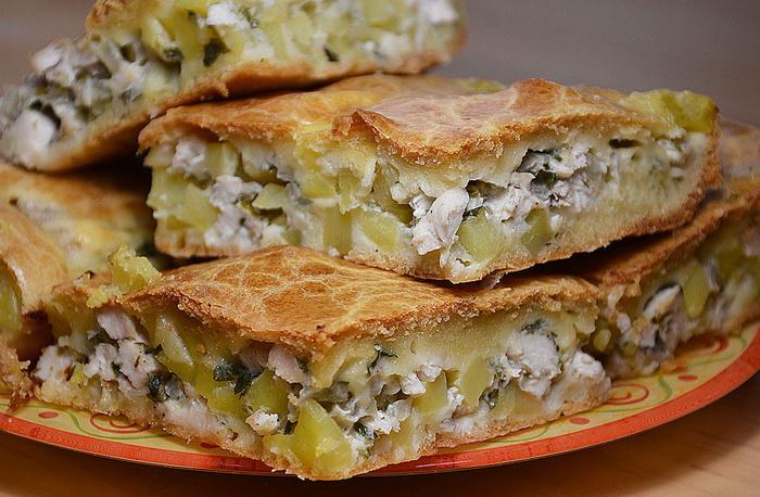 Пошаговый: рыбный пирог на кефире