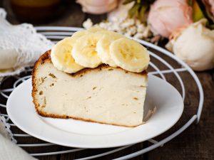 Творожная запеканка с рикоттой и бананом